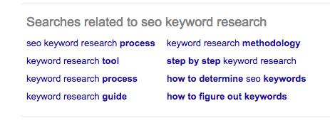 More Google keyword suggests